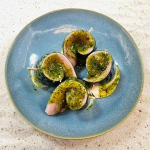 Makreel Rolletjes in het groen